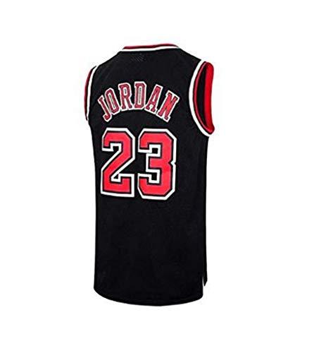 CCL Herren Jersey Bulls Vintage Meister Michael Jordan Jersey Chicago Bulls # 23 Basketball Swingman Trikot (S, M, L, XL, XXL),L