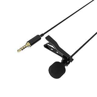 Sabrent Kondensator-Mikrofone - Lavalier / Lapel Clip-on Omnidirektionales Kondensatormikrofon für iPhone & Android Smartphones oder jedes andere mobile Gerät (AU-SMCR)