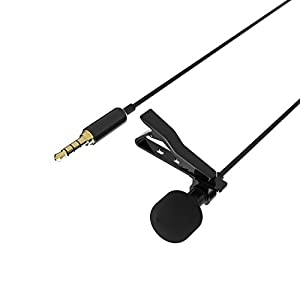 Sabrent Lavalier/Lapel Clip-on Omnidirectional Condenser Microphone for iPhone & Android Smartphones or any other mobile device (AU-SMCR)