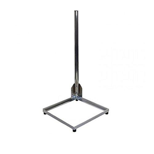 PremiumX Balkonständer Alu 40x40cm mit 1m Mast Ø 50mm mit Eck Halterung für Satellitenschüssel Flachdach