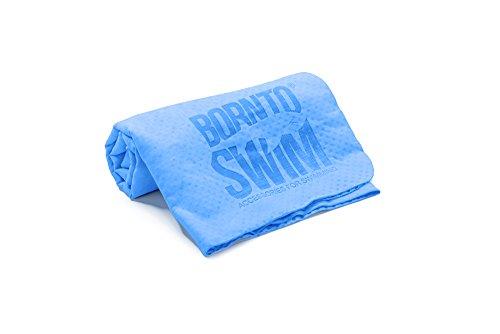 BornToSwim Saugfähiges Handtuch Extratrocken Chamois Shammy, Blau, 66 x 42 cm