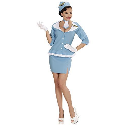 chsenenkostüm Retro Hostess, Jacke, Rock, Krawatte und Hut, Größe L ()