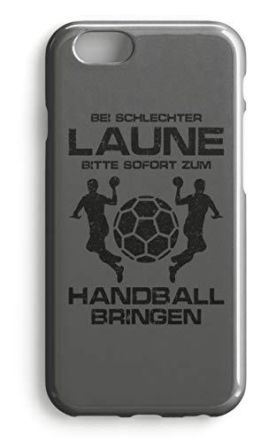 shirt-o-magic Handyhülle Handball: Schlechtgelaunt? Handball! - Case -iPhone 7-Mausgrau