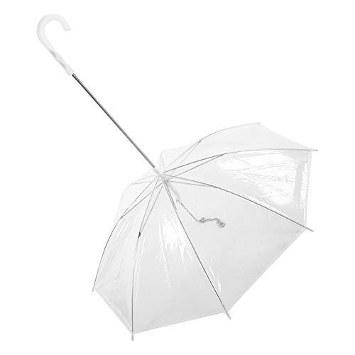 Fdit Socialme-EU Mascota Perro Paraguas Transparente con Correa para P