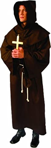 Alexanders Costumes Deluxe Monk Robe, Brown, One Size