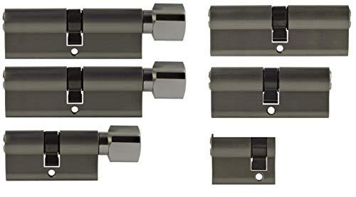 Set6 6x Zylinderschloss gleichschließend verschiedene Größen 1x40mm 1x80mm 1x 70mm/1x70mm 2x80mm mit Knauf inkl. 10x Schlüssel