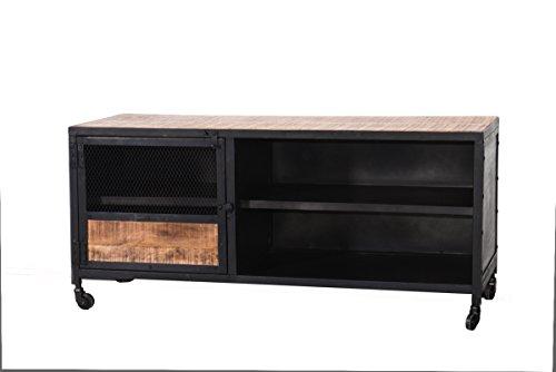 Meuble TV métal et bois 120 Atelier Meuble House