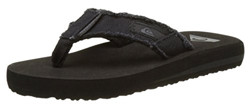 Quiksilver Monkey Abyss Yt B, Boys'  Flip Flop, Brown (Black/Black/Brown), 5 Child UK (39 EU)