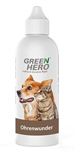 GreenHero Ohrenwunder für Hunde- und Katzenohren | 200 ml | Gegen Ohrenmilben und Hefepilze bei Juckreiz, Entzündungen, Infektionen, Reizungen, Ausfluss und Ekzemen