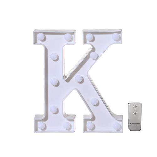 """Winkey Alphabet Buchstabe Lights-Remote Control Licht LED A-Z Buchstabe bis für Zeichen für Hochzeit, Party, K, 22cm/8.7\"""""""