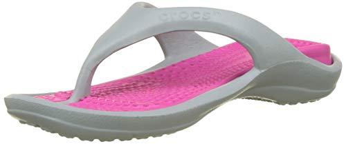 Crocs Unisex-Erwachsene Athens Zehentrenner, Grau (Light Grey/Candy Pink 0fs), 42/43 EU