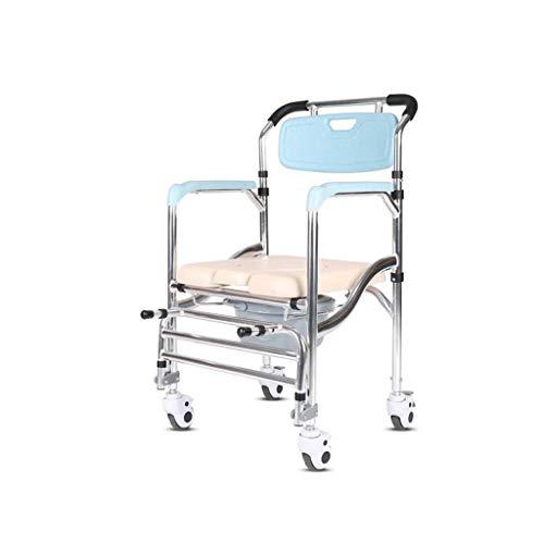 Yuany Ali Commode Klappstuhl für Schwangere zum Sitzen auf dem Toilettenhocker mit beweglicher Toilettenriemenscheibe 70 * 50 * 90cm