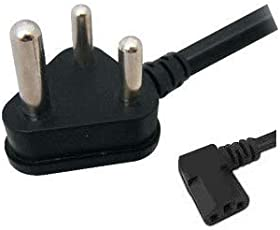 ANDTRONICS 10A 250v Heavy Duty Copper L Type Power Cord - Indian Power Plug to IEC Socket