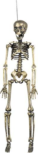Décoration à suspendre squelette doré 42 cm halloween - taille - Taille Unique - 228367