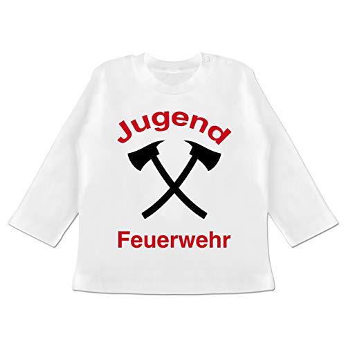 Feuerwehr Baby - Jugend Feuerwehr - 12-18 Monate - Weiß - BZ11 - Baby T-Shirt Langarm -