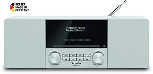 TechniSat Digitradio 3 Stereo DAB Radio - Kompaktanlage (DAB+, UKW, CD-Player, Bluetooth, USB, Kopfhöreranschluss, AUX-Eingang, Radiowecker, OLED Display, 20 Watt RMS) weiß