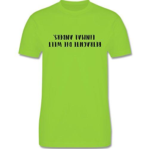 Statement Shirts - Betrachte die Welt einmal anders - Herren Premium T-Shirt Hellgrün