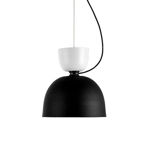 Lampes Tendance Simple Nordique Lustre en fer Couleur Plafonnier Créatif à Double tête Restaurant bar Chandelier Chaise E27 (non inclus) (D)