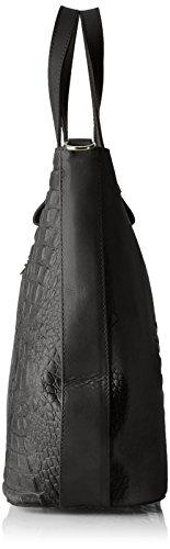 Chicca Borse 80046-1, Borsa a Tracolla Donna, 40 x 33 x 14 cm (W x H x L) Nero