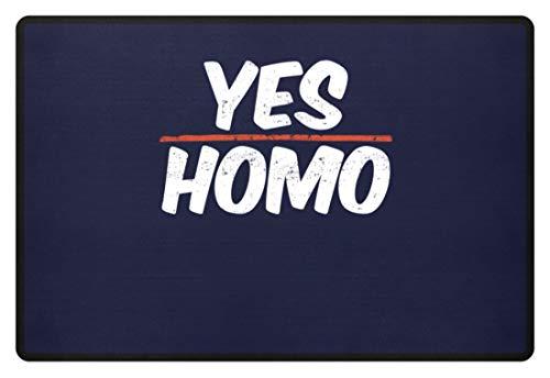 Generic Yes, Homo - Homosexuelle, Schwul, Gay, Stolz, Männer, Selbstbewusst, Pride, Selbstgefühl - Fußmatte -60x40cm-Dunkel-Blau -