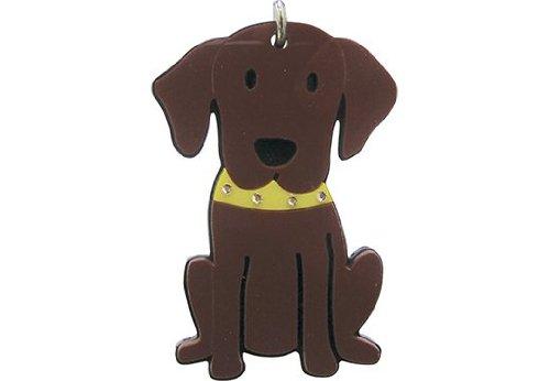foufou perro llavero Chocolate Labrador