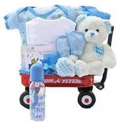 All Boy Baby Wagon by Baby Gift Basket by Baby Gift (Boy Wagon)