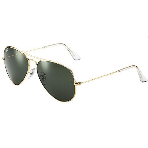 Ray Ban Unisex Sonnenbrille Aviator, Gr. Large (Herstellergröße: 55), Gold (gold W3234)