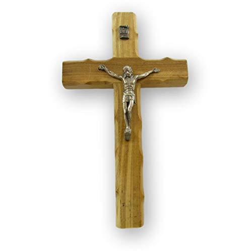 Nativity Gift Shop Weihnachtskrippen-Geschenkshop aus Olivenholz, handgeschnitztes Kreuz aus Bethlehem mit Jerusalem-Stempel auf der Rückseite, 16,5 x 10,2 cm