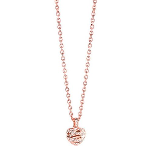 Guess Jewellery Ubn21610 Ladies Wrapped With Love Crystal Pendant Necklace