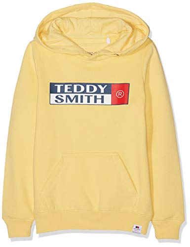 Teddy Smith SETIK Hoody JR Sweat-Shirt à Capuche, Jaune (Sunshine Yellow 629a), Ans (Taille Fabricant:16) Garço