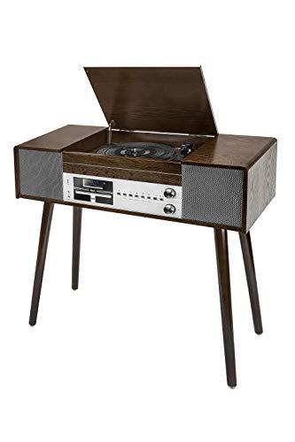 dual stereoanlage mit plattenspieler Dual NR 60 DAB USB-Plattenspieler Riemenantrieb Holz