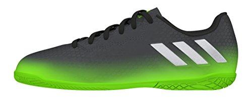 adidas Unisex-Kinder Messi 16.4 in Fußballschuhe, Grau (Dark Grey/Silver Met./Solar Green), 28 EU