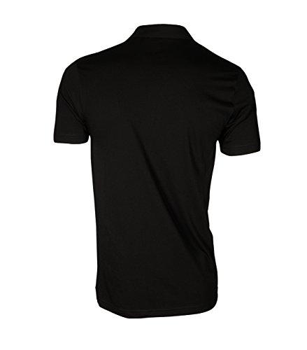 GRETA & LUIS Herren Premium-Poloshirt luuk in Schwarz Schwarz