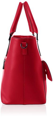 Chicca Borse 8855, Borsa a Spalla Donna, 37x25x17 cm (W x H x L) Rosso