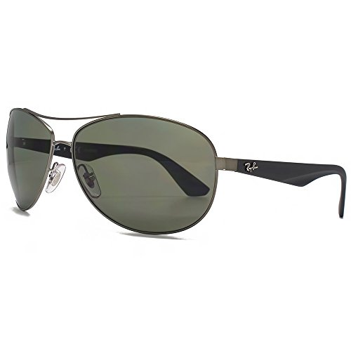 Ray-Ban Active Lifestyle Aviator Sunglasses in Matte Gunmetal Green Polarised RB3526 029/9A 63