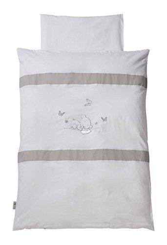 Easy Baby 810-90 Parure de lit, 100 x 135 cm, dreambear, blanc