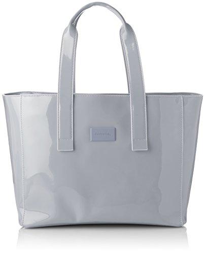 comma Damen Hello Sunshine Shopper Xlhz Tote, Grau (Grey), 17x29x50 cm