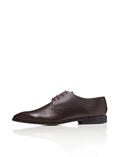 FIND Herren Derby-Schuhe, Braun (Dark Brown), 44 EU