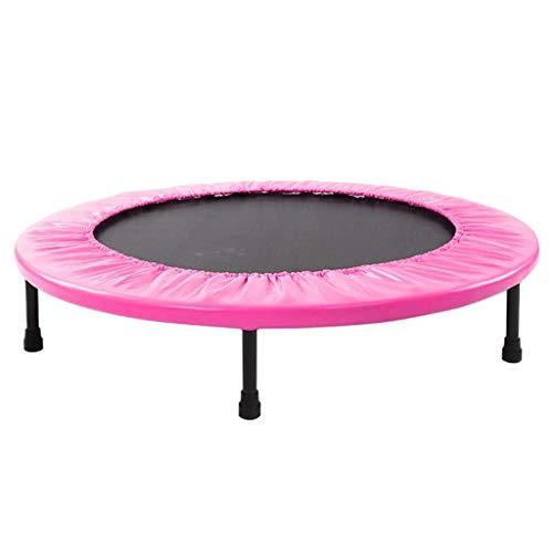 QYZHCP Trampolín, Gimnasia For Adultos, Familias, Niños, Cubierta De Trampolín - Primavera Saltar Cama Plegable - Pérdida De Peso Familia (Color : Pink)
