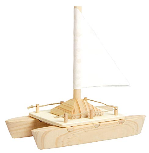 EDUPLAY 21021817,5x 17x 9cm Katamaran Boot Spielzeug (Holz-boote-modelle)