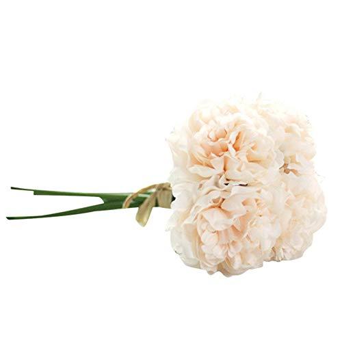Juesi Künstliche Blumen, Seide, Pfingstrose, Blumenstrauß Hochzeit Brautstrauß Hortensien Dekor Multicolor 3 - Seide, Blumen-reiniger-spray