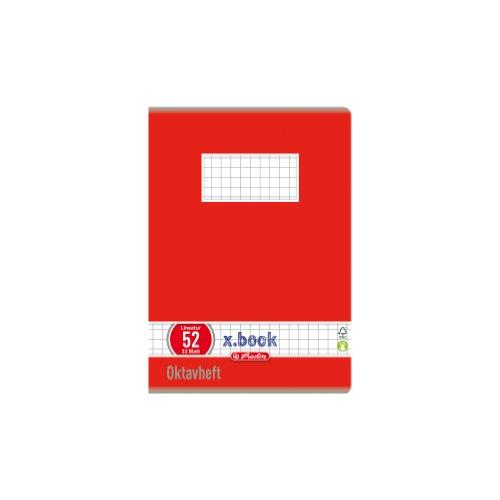Herlitz 413633 - Lote de 10 libretas de cuadros (DIN A6, 32 hojas), varios colores