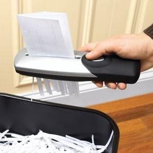 Broyeur Papier Portatif - USB ou piles