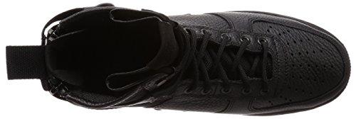 Nike Scarpe Uomo Wmns SF Air Force 1 Mid in Pelle e Tessuto Bianco 917753-101 Nero