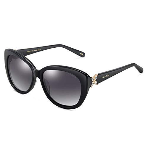 KISlink Sonnenbrillen Mode Damen Damen Designer Shades Übergroße Sonnenbrillen Brillen (Farbe: Schwarz)