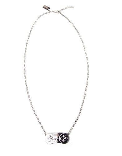 Nintendo - SNES silberne Halskette
