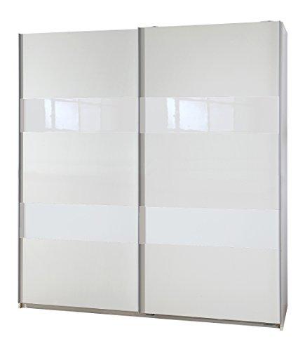 Wimex 007770 Schwebetürenschrank Front und Korpus, 135 x 198 x 64 cm, weiß