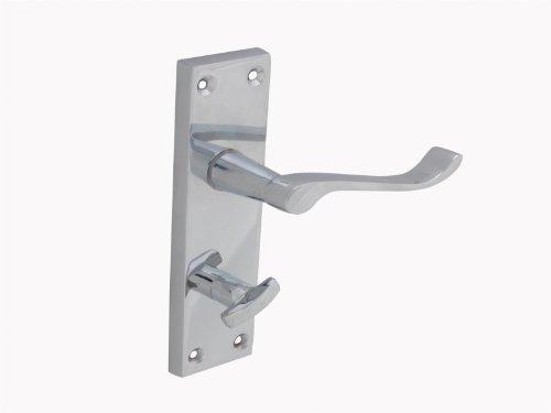 Forge - Manilla de puerta para baño con placa posterior (150 mm), aca