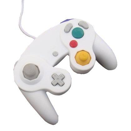 OSTENT Wired Schock Klassisch Controller Gamepad Joystick Joypad Kompatibel für Nintendo GameCube NGC Wii Konsole Videospiele Color Weiß