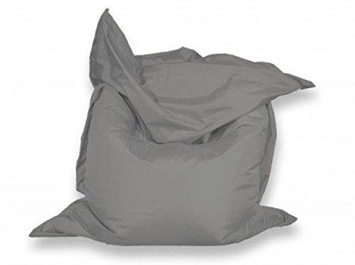 berlinpillow.de 4260406160722 Original Bean Bag, In und Outdoor Sitzsack Bed Bag, 160 x 120 cm, grau